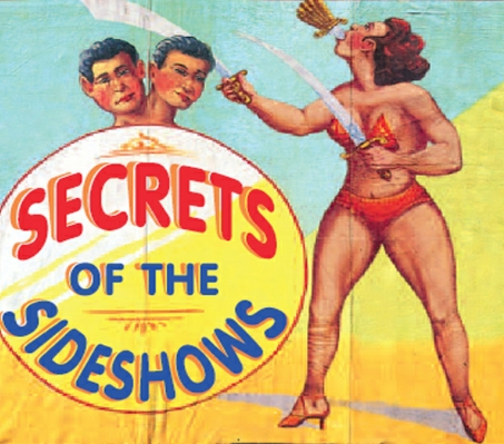 "Capa do livro ""Secrets of the Sideshows"""