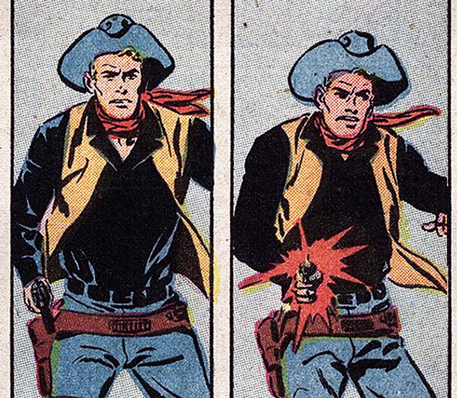"Sequência da HQ ""Billy the Kid"", da Charlton Comics (1958)"