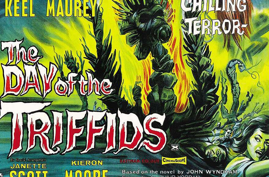 Cartaz do filme Day of the Triffids, de 1962