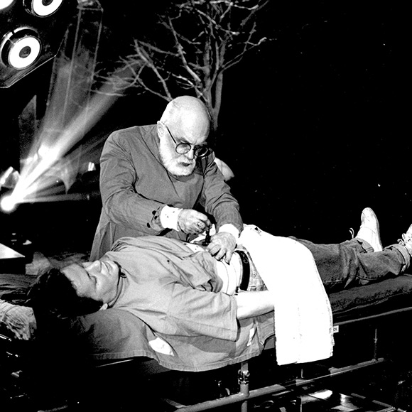 "James Randi shows how to fake a ""spirit"" surgery"