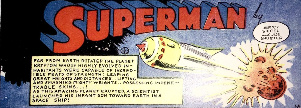 Tirinha do Superman de 1939
