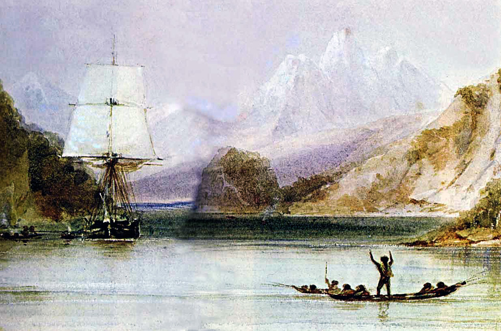 Painting of the HMS Beagle